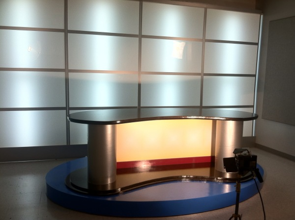Student News Show Anchor Desk